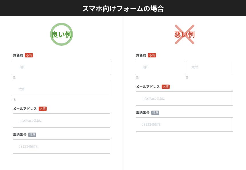 【入力フォームのUIデザイン】ユーザーの視線の動きに配慮した配置を行う_スマホ向けフォームの場合