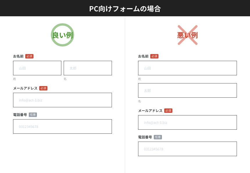 【入力フォームのUIデザイン】ユーザーの視線の動きに配慮した配置を行う_PC向けフォームの場合